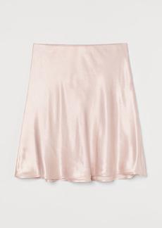 H&M H & M - Short Satin Skirt - Orange