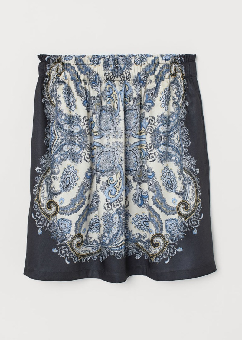 H&M H & M - Short Skirt - Blue