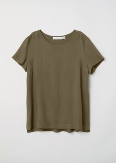 H&M H & M - Short-sleeved Blouse - Green