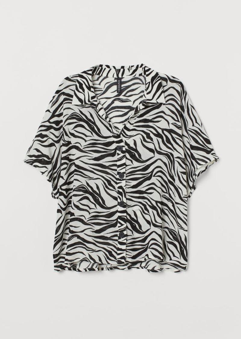 H&M H & M - Short-sleeved Blouse - White