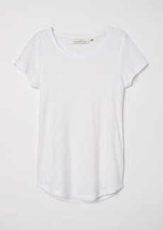 H&M H & M - Short-sleeved Jersey Top - White