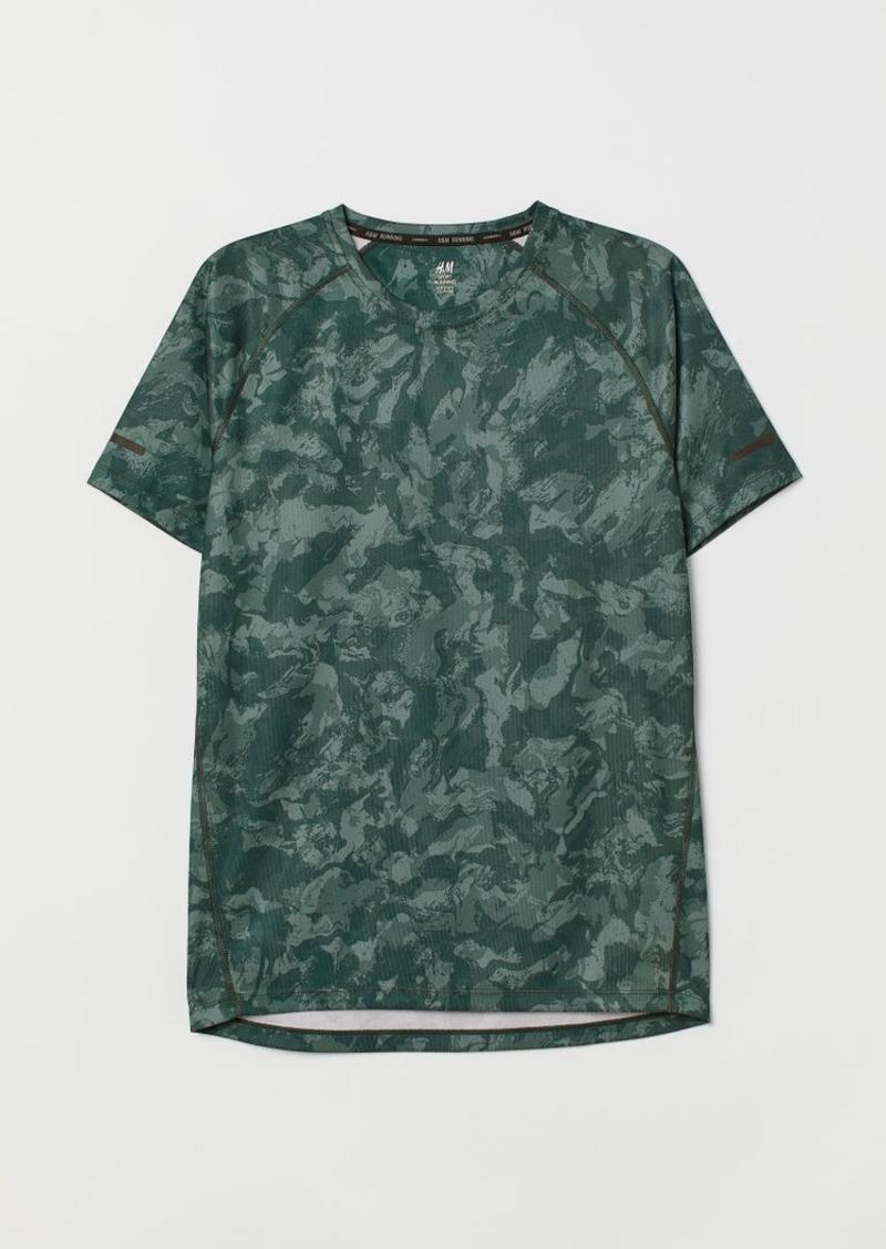 H&M H & M - Short-sleeved Running Shirt - Green