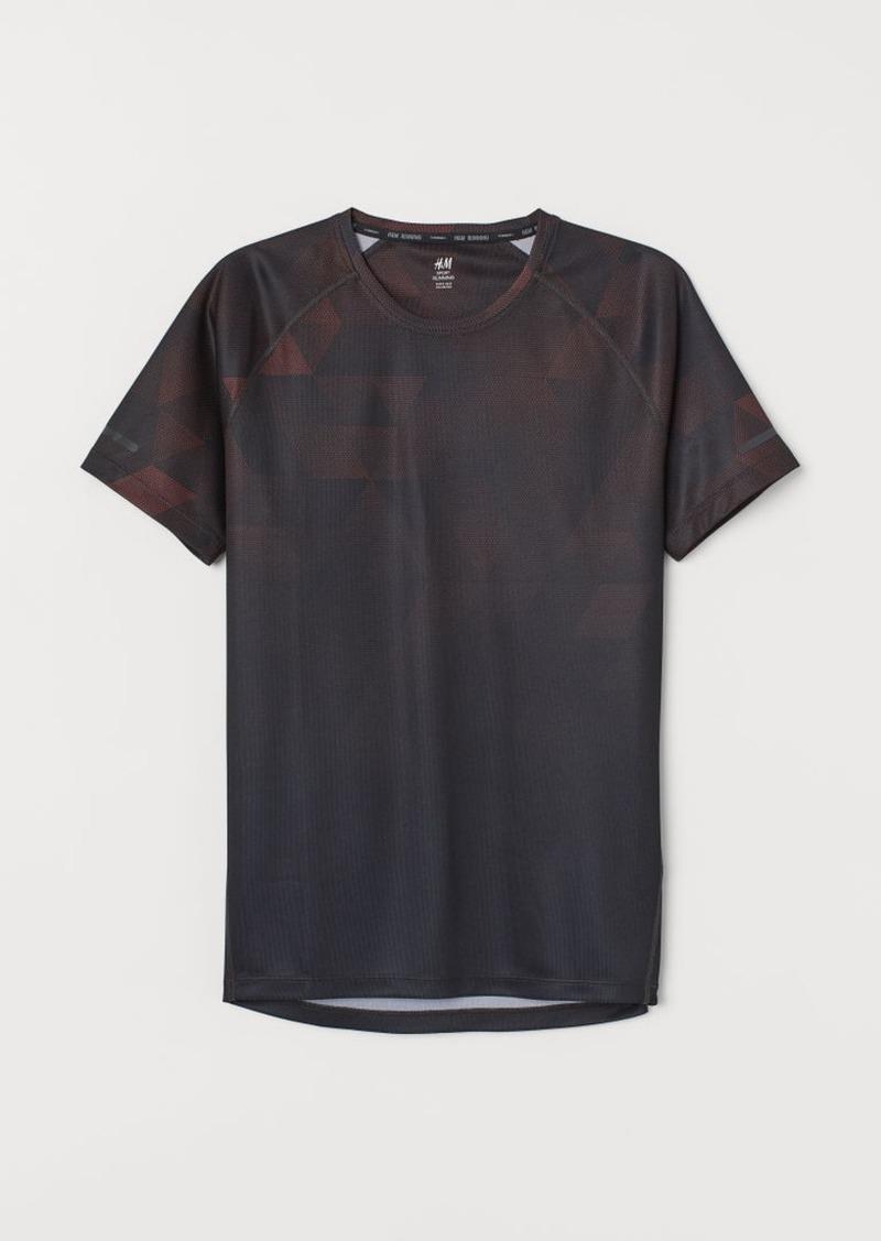 H&M H & M - Short-sleeved Running Shirt - Orange