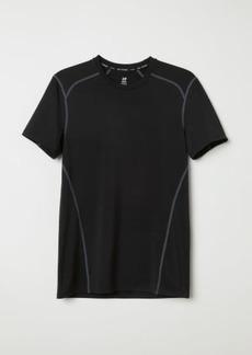 H&M H & M - Short-sleeved Sports Shirt - Black