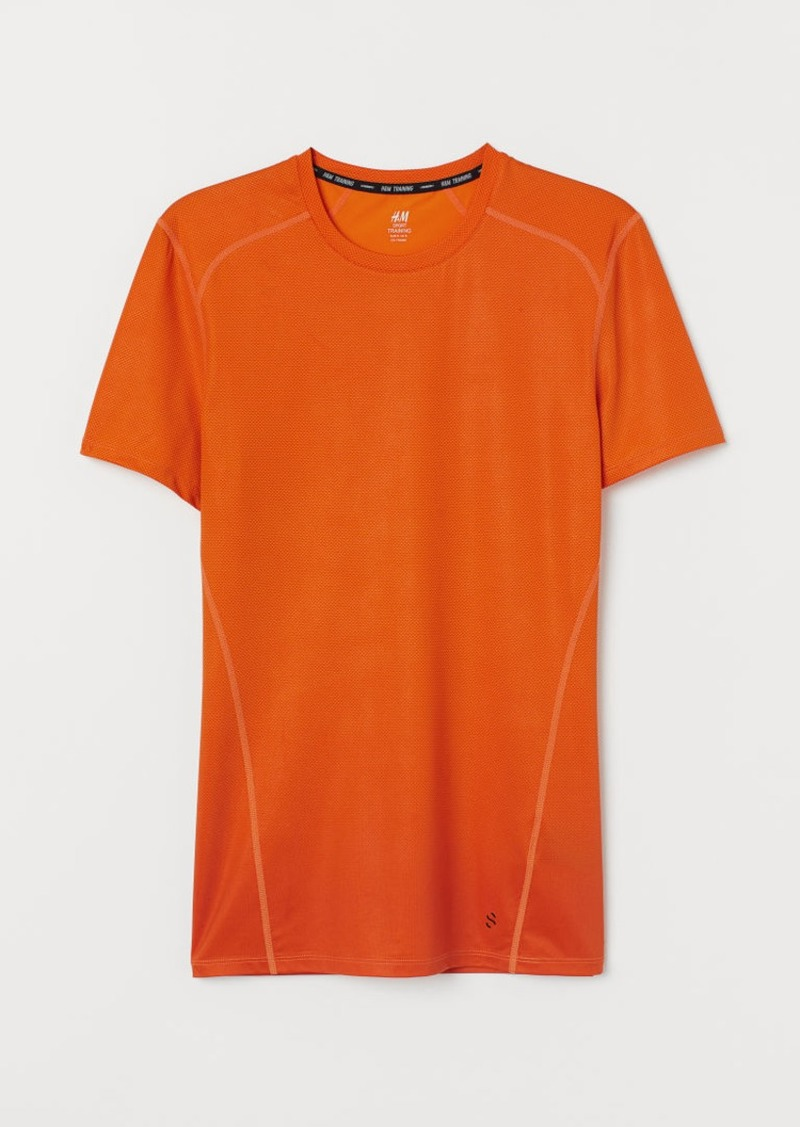 H&M H & M - Short-sleeved Sports Shirt - Orange