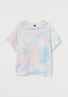 H&M H & M - Short-sleeved Sweatshirt - Pink