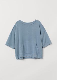 H&M H & M - Short-sleeved Sweatshirt - Turquoise