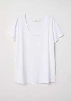 H&M H & M - Short-sleeved Top - White