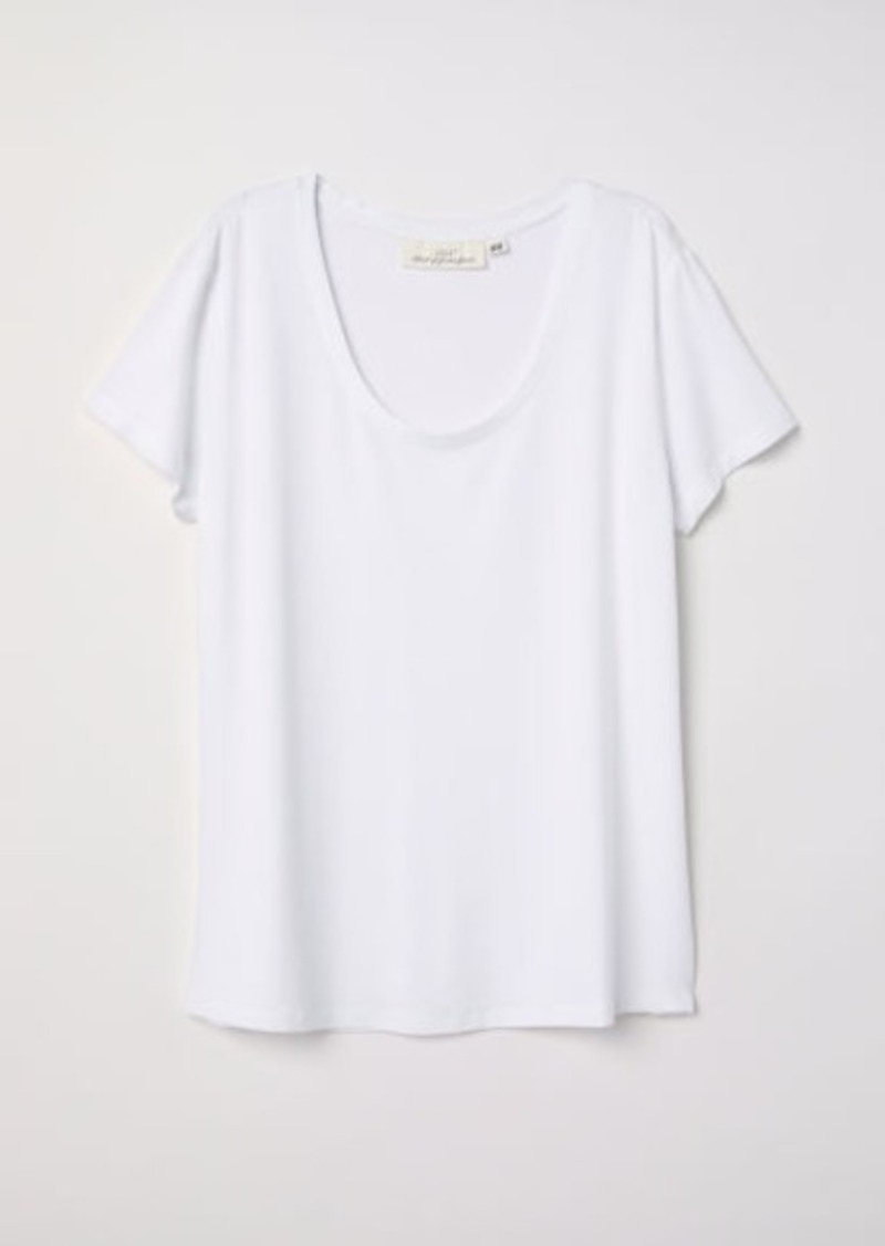 H&M H & M - Short-sleeved Top - White