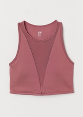 H&M H & M - Short Sports Top - Pink