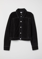 Hm h  m   short suede jacket   black abvaae91afa a