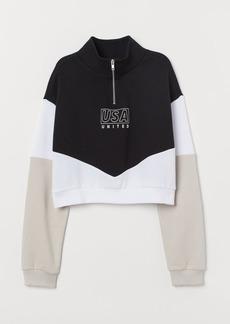 H&M H & M - Short Sweatshirt - Black