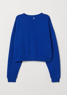 H&M H & M - Short Sweatshirt - Blue