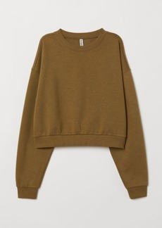 H&M H & M - Short Sweatshirt - Green