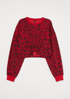 H&M H & M - Short Sweatshirt - Red