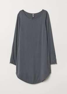 H&M H & M - Short Viscose Dress - Gray