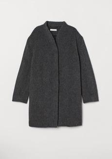 H&M H & M - Short Wool-blend Coat - Gray