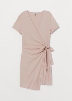 H&M H & M - Short Wrap Dress - Brown