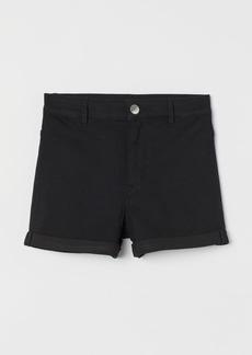 H&M H & M - Shorts High Waist - Black