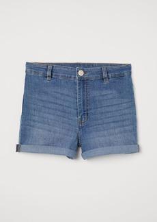 H&M H & M - Shorts High Waist - Blue