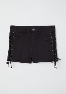 H&M H & M - Shorts with Lacing - Black