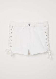 H&M H & M - Shorts with Lacing - White
