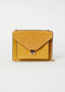 H&M H & M - Shoulder Bag with Suede Detail - Yellow