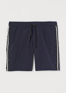 H&M H & M - Side-striped Shorts - Blue