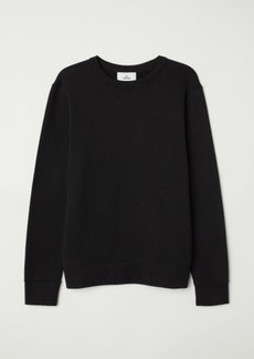 H&M H & M - Silk-blend Sweatshirt - Black