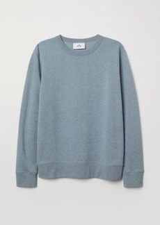 H&M H & M - Silk-blend Sweatshirt - Blue