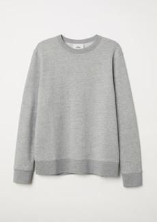 H&M H & M - Silk-blend Sweatshirt - Gray