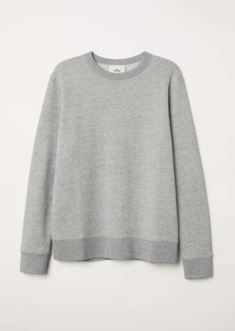 H&M H & M - Silk-blend Sweatshirt - Gray