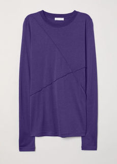 H&M H & M - Silk-blend Top - Blue