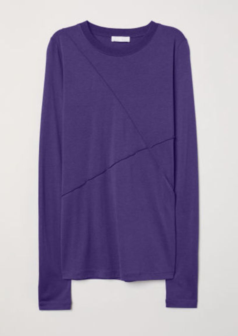H&M H & M - Silk-blend Top - Blue