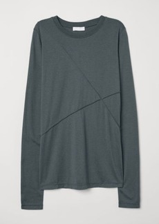 H&M H & M - Silk-blend Top - Green