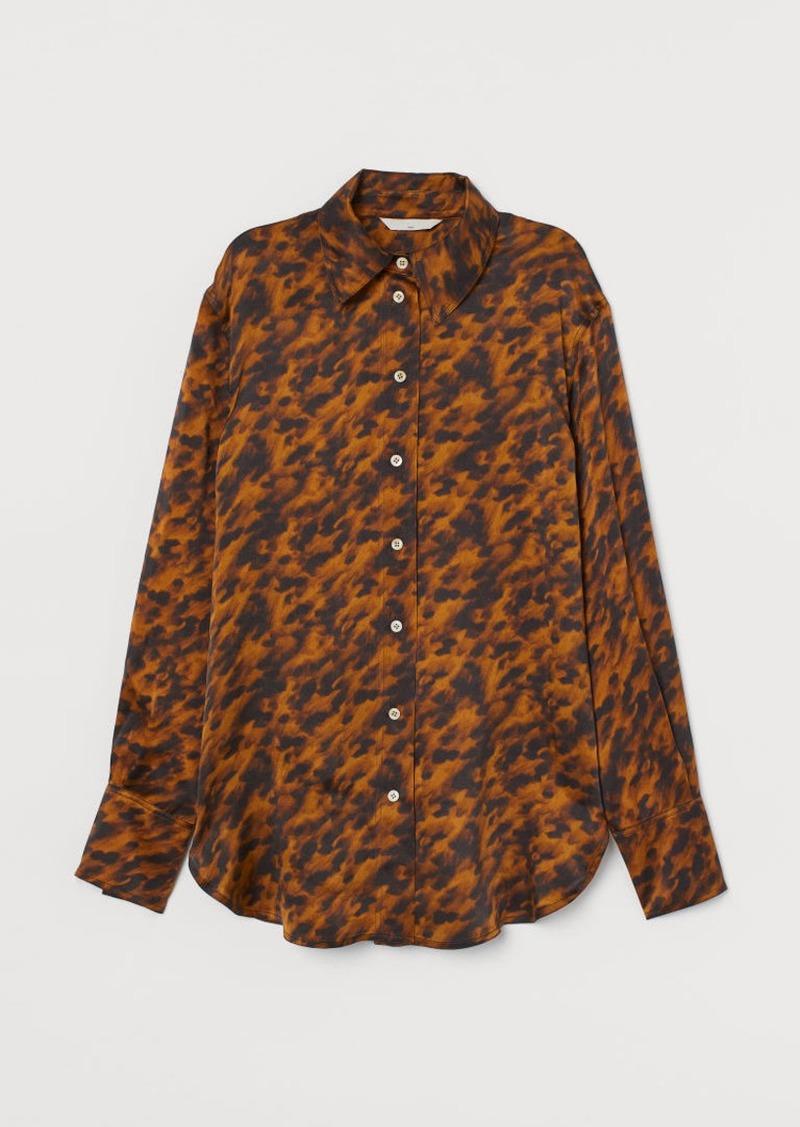 H&M H & M - Silk Shirt - Beige