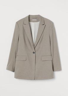 H&M H & M - Single-breasted Blazer - Brown