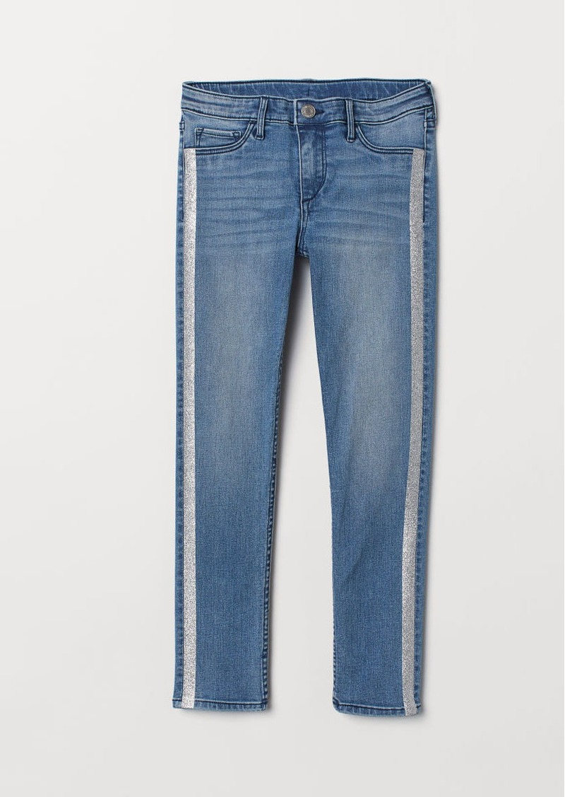 H&M H & M - Skinny Fit Ankle Jeans - Blue