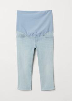 H&M H & M - Skinny Fit Capri Jeans - Blue