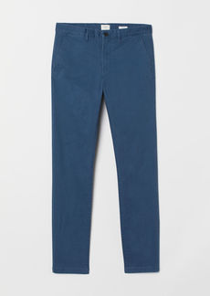 H&M H & M - Skinny Fit Cotton Chinos - Blue