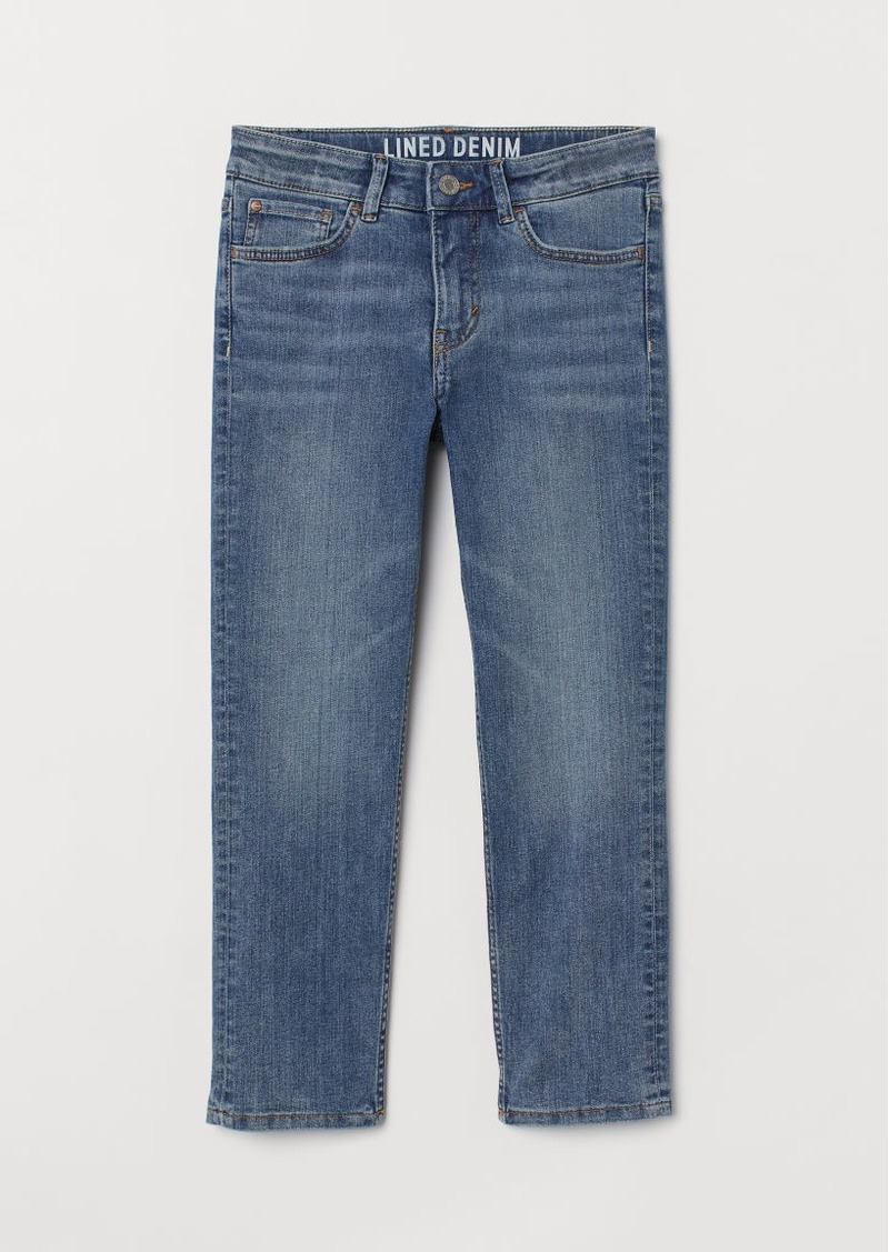 H&M H & M - Skinny Fit Lined Jeans - Blue