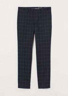 H&M H & M - Skinny Fit Suit Pants - Blue
