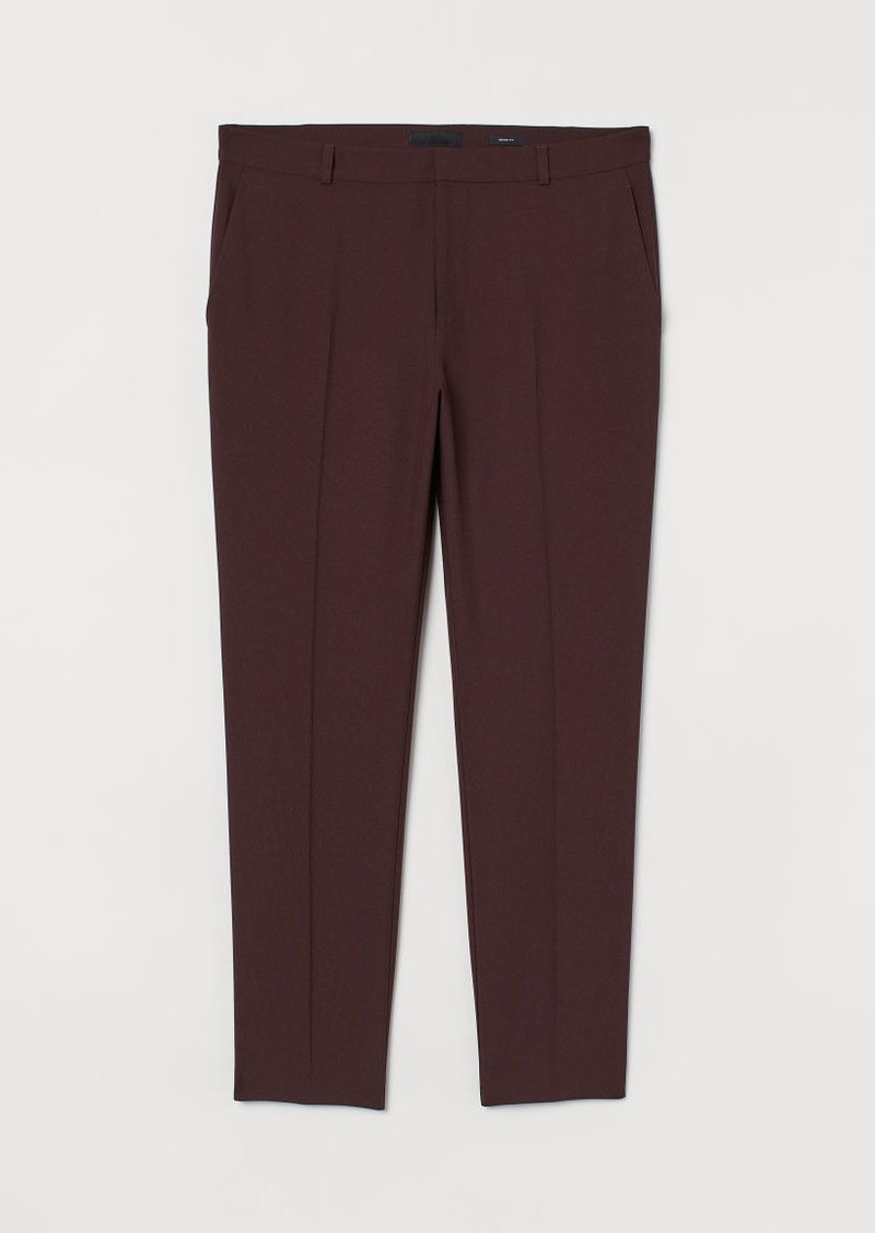 H&M H & M - Skinny Fit Suit Pants - Red