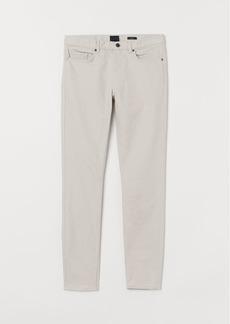 H&M H & M - Skinny Fit Twill Pants - Beige