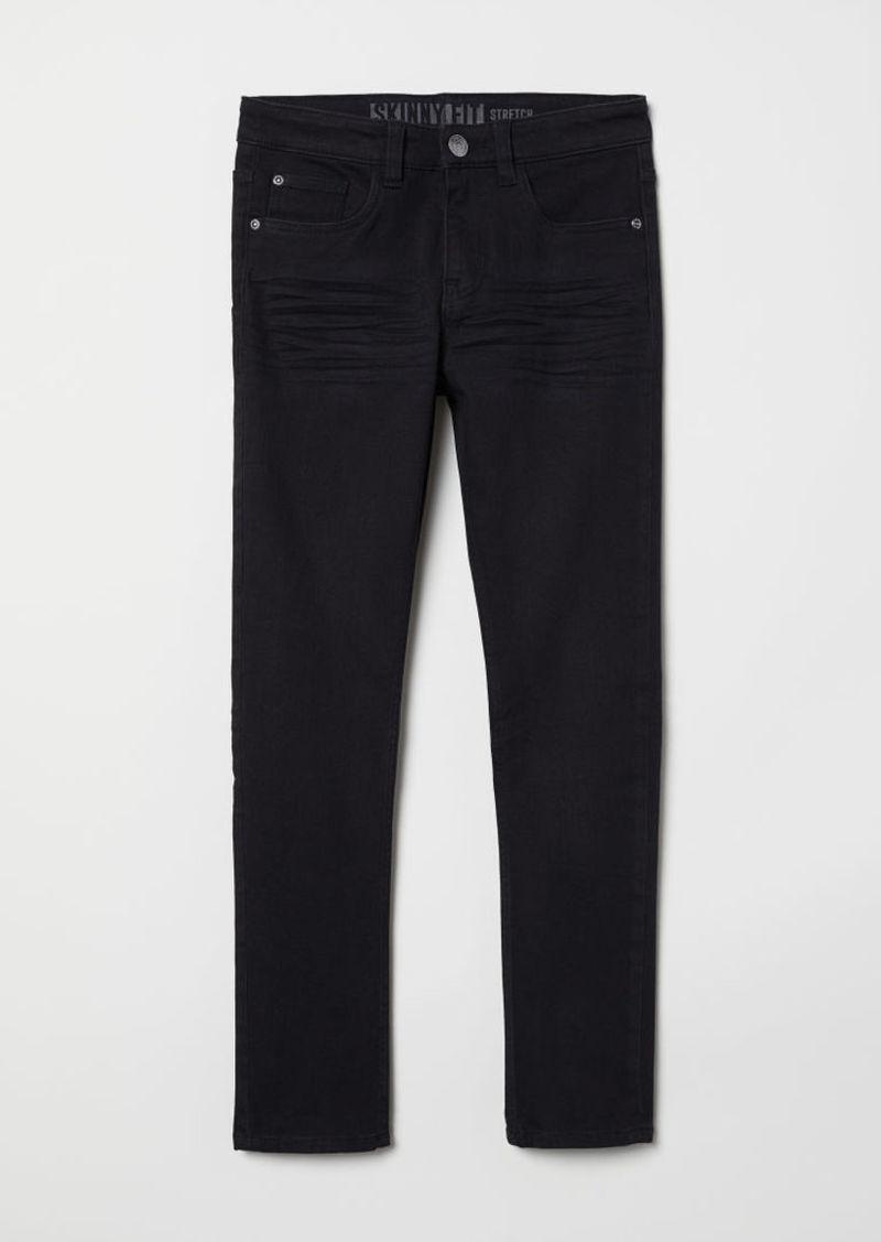 H&M H & M - Skinny Fit Twill Pants - Black