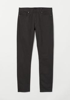 H&M H & M - Skinny Fit Twill Pants - Gray