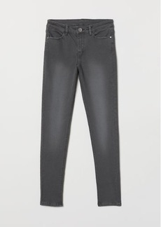 H&M H & M - Skinny Fit Twill Pants - Gray