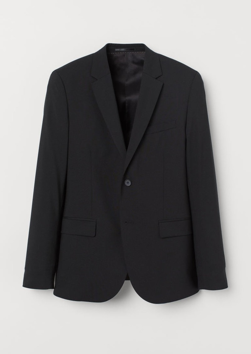 H&M H & M - Skinny Fit Wool Blazer - Black