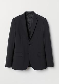H&M H & M - Skinny Fit Wool-blend Blazer - Black