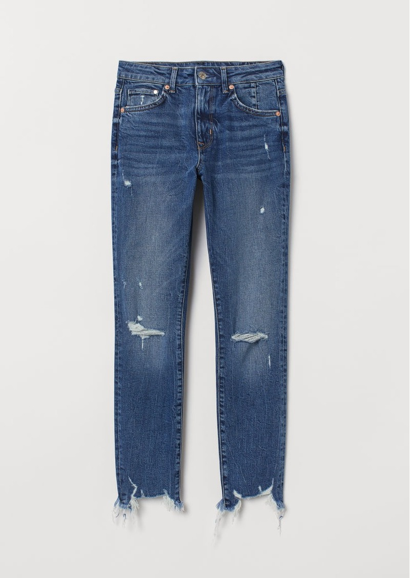 H&M H & M - Skinny High Ankle Jeans - Blue